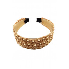 Yona Fashion Flower Lace Stone Hair Band (Brown)