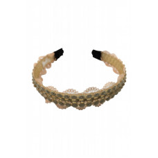 Yona Fashion Lace Stone Hair Band (Beige)
