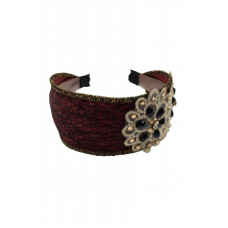 Yona Fashion Grand Stone Hair Band (Maroon)
