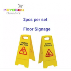 Total 2pcs keyogen floor sign combo - cleaning in progress / wet floor 1 pc cleaning in progress and 1 pc wet floor signage