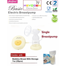 Halford New Rechargable Single Breastpump - BPA Free - 2 year warranty - COMBO Breast Milk Storage 7oz(25pcs)