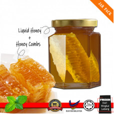 (Jar Pack 100g) Sarang Madu Lebah / HoneyComb / Honey Nest Bee Farm