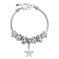 Her Jewellery Enchanted Flower Charm (White)
