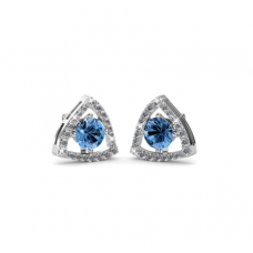 Her Jewellery Tri-Styled Earrings (Blue) embellished with Crystals fr Swarovski