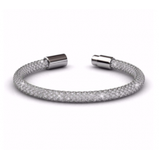 Her Jewellery Mesh Bracelet (White Gold)