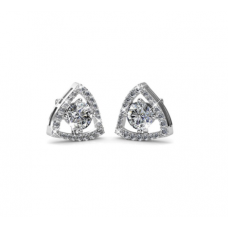 Her Jewellery Tri-Styled Earrings (White) embellished with Crystals fr Swarovski