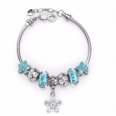 Her Jewellery Enchanted Flower Charm (Blue)