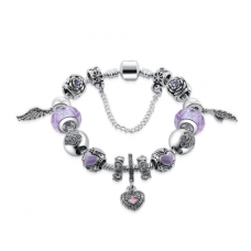 Her Jewellery Angel Charm Bracelet (Purple)