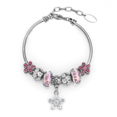 Her Jewellery Enchanted Flower Charm (pink)