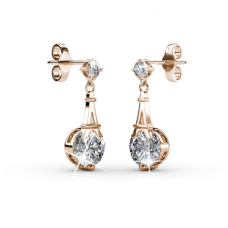 Her Jewellery Paris Earrings (Rose Gold) embellished with Crystals fr Swarovski