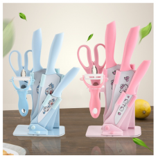[H-360] Cartoon Hello Kitty Doraemon Knife Set