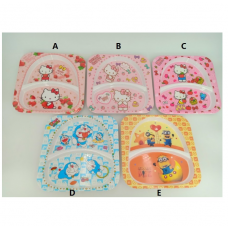 [H-342] Hello Kitty Doraemon Minions Frozen Divider Plate Tableware