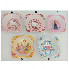 [H-341] Hello Kitty Doraemon Minions Frozen  Plate Tableware