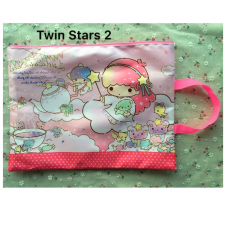 [H-393] Hello Kitty Little Twin Stars File Document Folder Bag