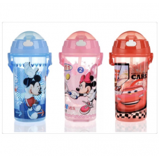 [W-006] Disney Cartoon Portable Children Straw Water Bottle /Tumbler 500ml