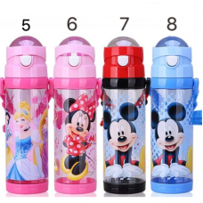 [W-007]Disney Cartoon Portable Children Straw Water Bottle /Tumbler 650ml