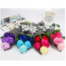 5pcs Rose Soap Flower Bouquet Gift Box