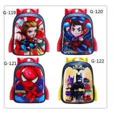 Avenger Batman Superhero Thor Hulk IronMan Superman Spiderman Cartoon School Bag