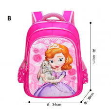 3D Sofia Backpack Student School Bag