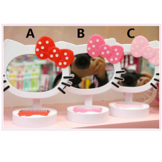 [H-213] Hello Kitty Table Makeup Mirror with Small Comb