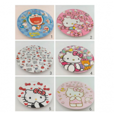 [H-378] Cartoon Kitty Melody Doraemon Plate