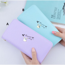 [718] Women PU Leather Long Purse/Wallet