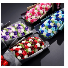 [SP-001] 51pcs Rose Soap Flower Bouquet
