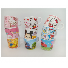 [H-369] Cartoon Kitty Melody Doraemon Tsum Tsum Minions Peppa Pig Cup