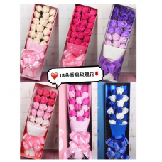 18pcs Rose Soap Flower Bouquet