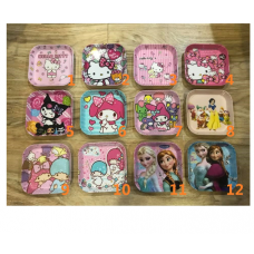 [H-385] Cartoon Kitty Melody Frozen Twin Stars Dessert Plate 3 (Part1)