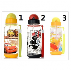 [W-008]Cartoon Portable Children Straw Water Bottle /Tumbler 500ml