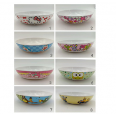 [H-381] Cartoon Kitty Melody Doraemon Noodle Plate