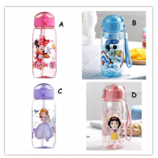 [W-001] Disney Super Wings Cartoon Portable Children Straw Water Bottle 450ml