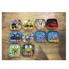 [H-385] Cartoon Doraemon Thomas Tsum Tsum Keroppi Dessert Plate 3 (Part2)