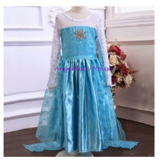 Frozen princess Elsa Long sleeves Fancy dress M COSTUME 3-12 T years girl kids
