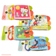 Disney Fun Teether Cloth Book/Soft Book with handle and sound baby kids learning