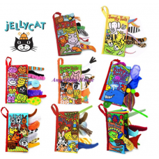 Jollybaby/Taf toys touch and feel animal tails cloth book Soft Books baby kids
