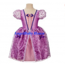 Disney Princess Sofia the first costume dress ribbon cosplay gown girl kids 2-8T