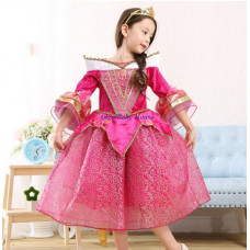 Disney Princess Aurora Sleeping Beauty Costume dress dark pink girl kid toddler
