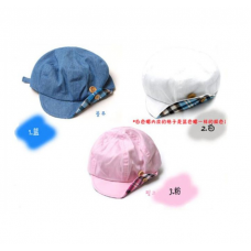 Korea Cool Baby hat with button cap PINK BLUE WHITE