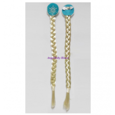 Frozen Anna Elsa Hair accessory brown Braid Sliver Brown Hair