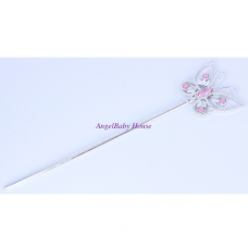 Disney princess BLUE/PINK butterfly wand baby kids girl frozen hair accessories