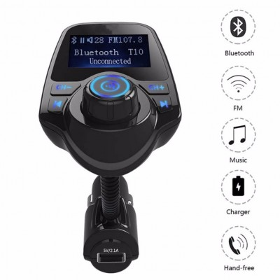 Mutlifunction Car Kit Handsfree Wireless Bluetooth FM Transmitter Modulator T10