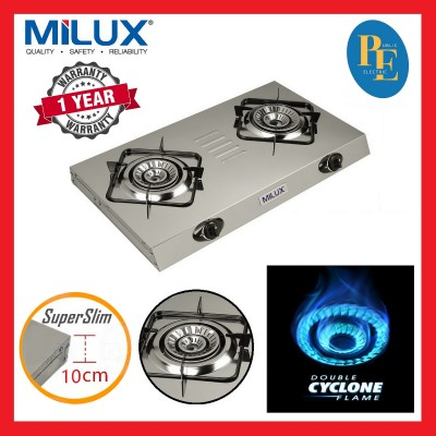 Milux Stainless Steel 2 Burners Gas Cooker Gas Stove 4.2kW - MSS-2800