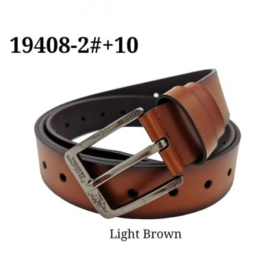 Original Polo Louie XXXL oversize Full Hole Leather Men's Belt Classy Buckle Waist Strap Belts Smart Tali Pinggang Lelaki 19408-2#+10