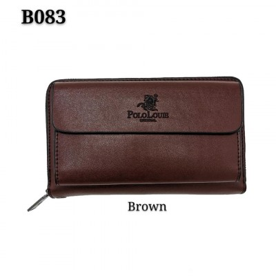 Original Polo Louie High Quality Leather Business Clutch Wallet Men Women Zip Card Wallet Hand Carry Dompet B083