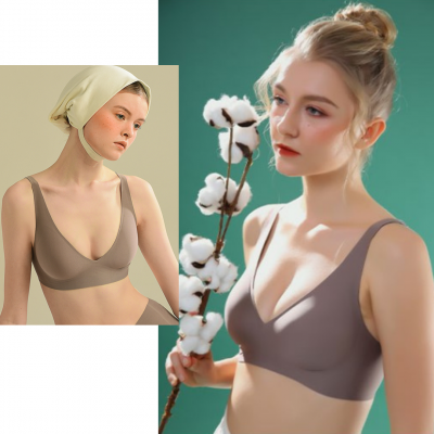 (READY STOCK KL) Japan SUJI Invisible Back Clip Semi-liquid Jelly Plain Soft Maternity Seamless Women's Thin Top Bra 日本素肌果冻条文胸3.0