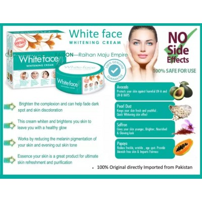 White Face Whitening Cream - 100% Original Imported form Pakistan - 30 gm - BUY 2 GET 1 FREE