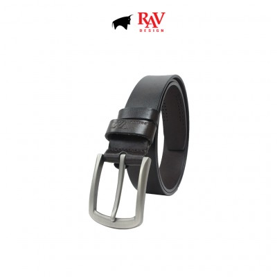 RAV DESIGN Men's 100% Genuine Cow Leather 35MM Pin Buckle Belt |RVB596G1