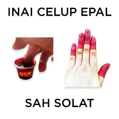 INAI CELUP EPAL @ HENNA WITH APPLE FLAVOUR